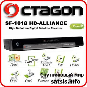 Octagon SF 1018 HD Alliance Sat Linux Twin PVR Ready US