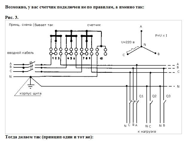 схема как остановить счетчик электроэнергии.