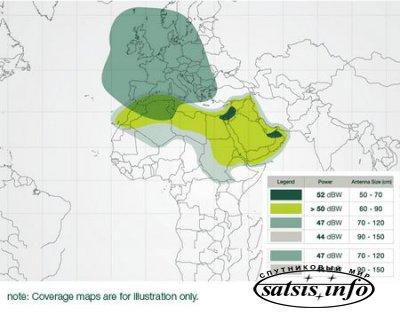 Новый спутник Yahsat 1А начал вещание в позиции 52.5°E