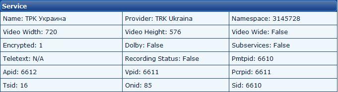 Бисс ключ на ТРК Украина 12130, Astra 4A,4.8°E
