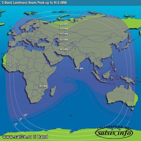 """""""Intelsat-20"""". Опубликованы карты нового спутника, который будет покрывать почти всю Россию."""