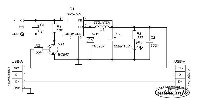 Схема usb программатора i2c