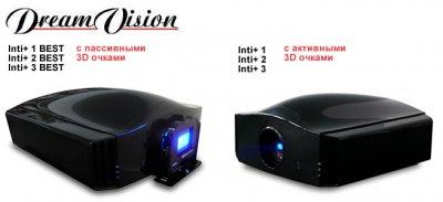 Новые 4K проекторы DreamVision - с пассивными или активными 3D очками – на выбор.