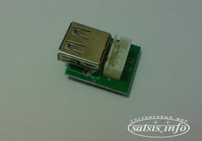 Доработка переднего USB порта в ресивере TIGER T600 HD