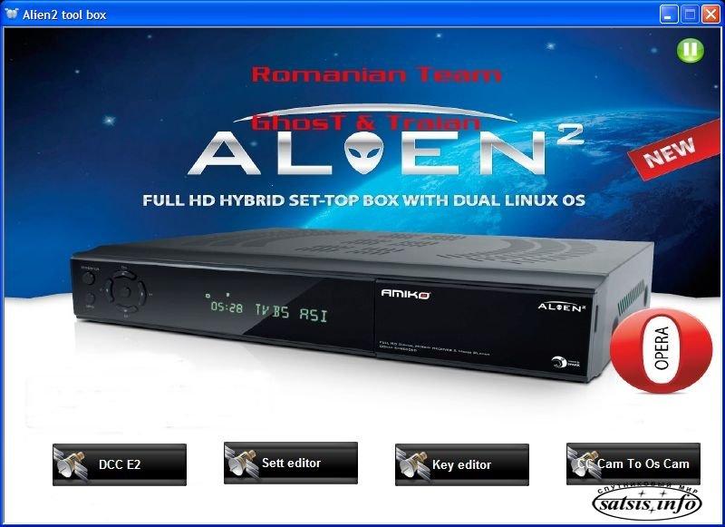 Программы для работы с Amiko Alien 2