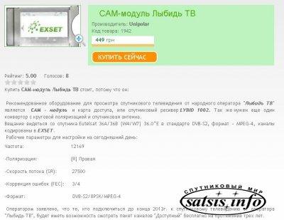 CAM-модуль Лыбидь ТВ