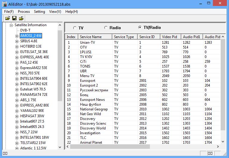 Программа для редактирования каналов GI HD Mini