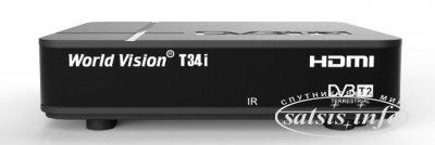 Цифровой эфирный DVB-T2 приемник World Vision T34i с выносным ИК