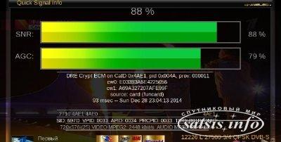 Плагин Quick Signal Info - уровень сигнала