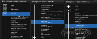 Плагины для Enigma2 для Openbox S...