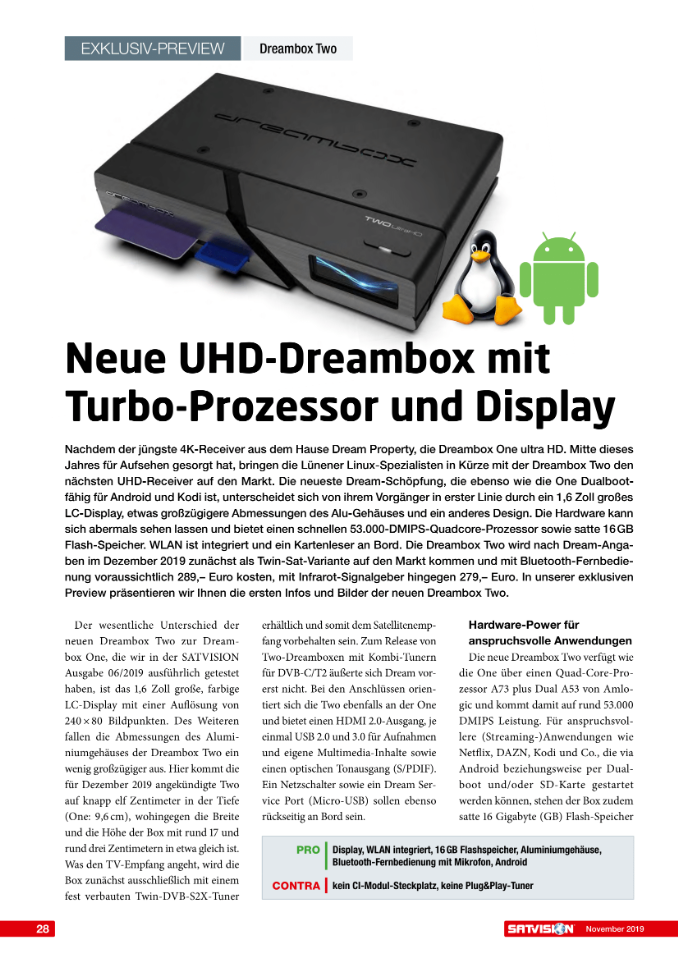 DreamBox Two