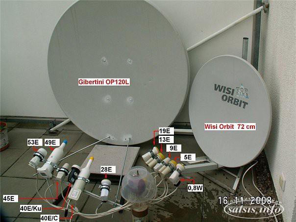какие спутники можно ловить на одну тарелку
