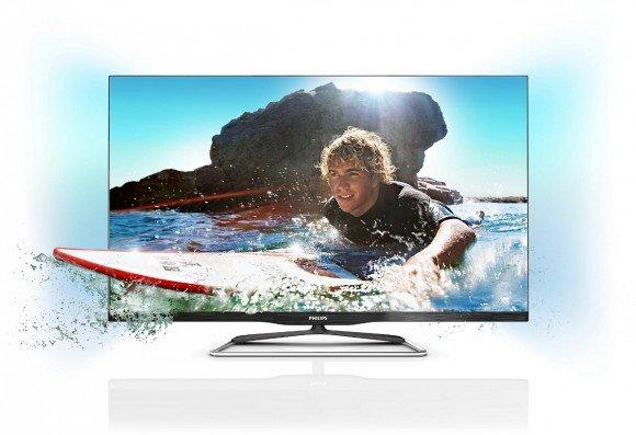 Безрамочные телевизоры Philips Smart TV серии PFL6900