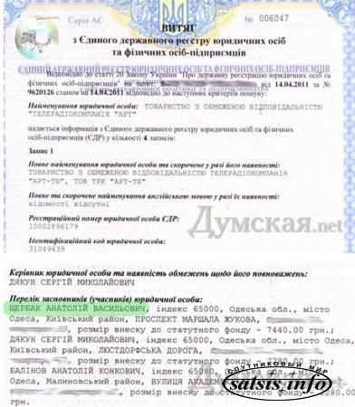 "СМИ: Мэр Одессы записал канал ""АРТ"" на однокурсника"