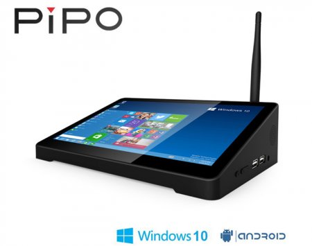 Мультимедийная приставка PIPO X9 TV Box 8.9 inch Tablet Mini PC на Windows 10 и Android 4.4