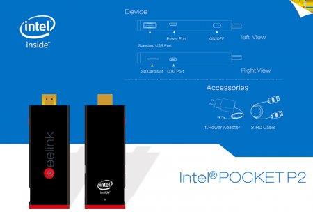 Beelink POCKET P2 Mini PC 2GB 32GB Intel Z3735F Quad Core Windows 10