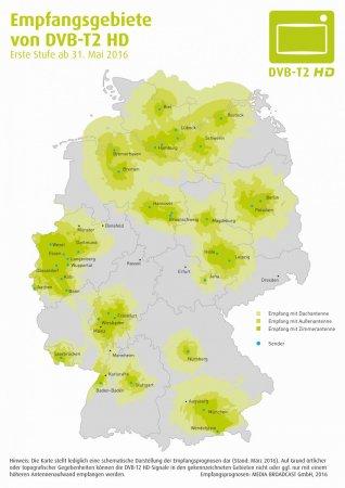 Вещание в стандарте DVB-T2 начнётся в Германии с 31 мая