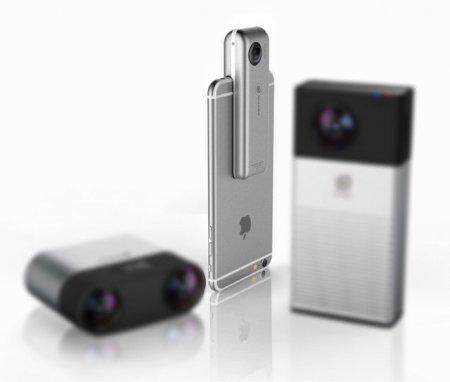 Появилась первая видеокамера для прямых трансляция 360-градусного видео с iPhone