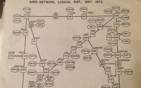 На одном листочке. Обнаружена карта всего интернета 1973 года (ФОТО)
