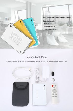 Карманный DLP проектор wowoto A5