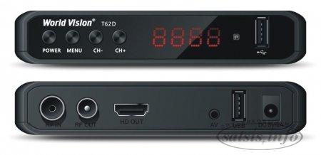 Обзор эфирного DVB-T2 ресивера World Vision T62D