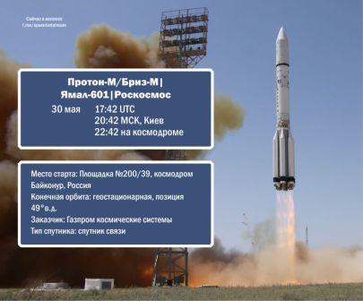 Трансляцию запуска спутника «Ямал-601» можно будет посмотреть в прямом эфире